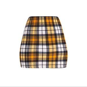 PLT Mini Plaid Skirt